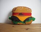 Plush Burger Pillow