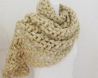 Bridal Shawl, Wedding Shawl, Soft pastel shades, Beige, Ivory, Camel, crochet Shawl, Rectiangle Shawl, OOAK