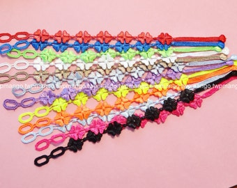 Lace Bracelets...Set of 12pcs...12 Colors...Fashion Lace Bracelets... N113-4