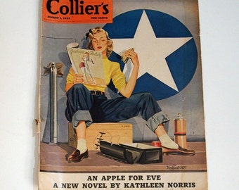 Magazine Cover, Collier's 1942, Reverse, Rice Krispies