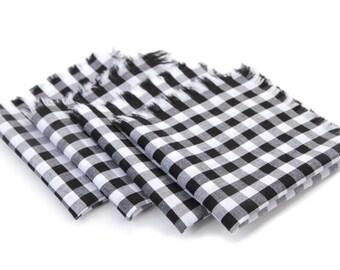 Cloth Napkins - Black/White Gingham