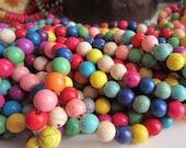 45 Multicolor Turquoise beads 8mm round  howlite gemstone DO39M(E4)
