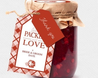 Spread the love jam labels | Etsy