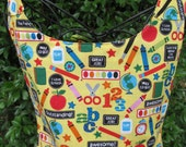 Reversible apron, full apron, teacher apron, school apron