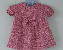 Beautiful pink liberty dress and knickers  set for a 3 month old baby girl