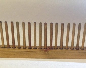 Peg Loom - solid oak with instructions