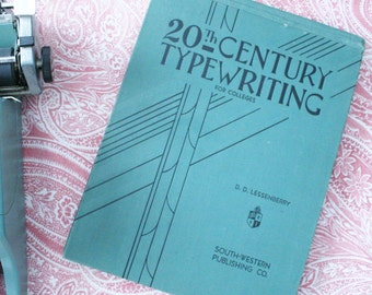 20th century typewriting for colleges 1936 illustrated book vintage