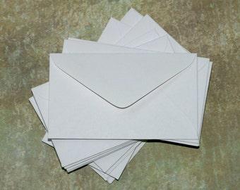 Mini Envelopes (100) ... Small White Envelopes for Gift Cards Thank You Notes Wedding Guest Book Euro Flap Blank Envelopes Note Cards Blank