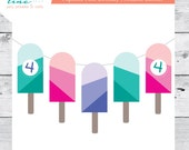 Popsicle Printable Party Banner  - Customized with any age!