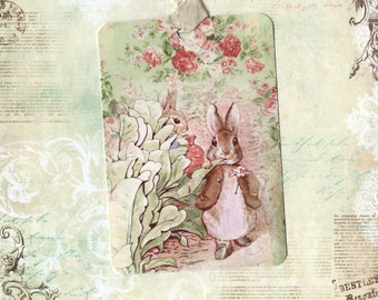 Tags, Peter Rabbit, Gift Tags, Vintage Style