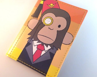 Classy Monkey Passport Case - Zach Trover for Tinymeat