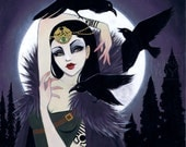 """LIMITED EDITION: """"The Morrigan"""" Canvas Reproduction 4 of 10"""