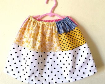 Sale! One of a kind Patchwork skirt in size 4-6 years