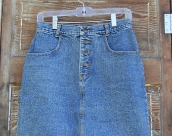 High waisted denim skirt, Breakfast club size M