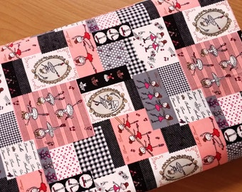 Japanese fabric, Lolita fabric, Quilt fabric, Cotton fabric, Ballerina, Ballet fabric,  1 yard FB066