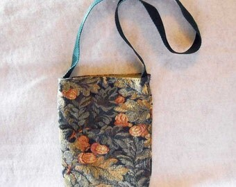 Fall Handbag or Purse Brocade Oak Leaves and Acorns