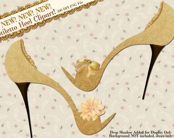 Clipart Stiletto, Shoe Clipart, High Heel Clipart, Clip Art