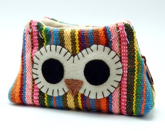 RS Owl - Zipper pouch / coin purse (padded) (ZS-107)