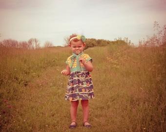Owl toddler dress