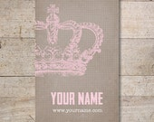 Business Cards - Custom Business Cards - Jewelry Cards - Earring Cards - Display Cards - Vintage Crown - No. 197