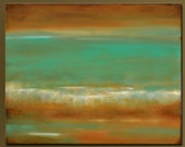 Turquoise Reflection - 30x 24 - Acrylic Abstract Painting - Contemporary Wall Art