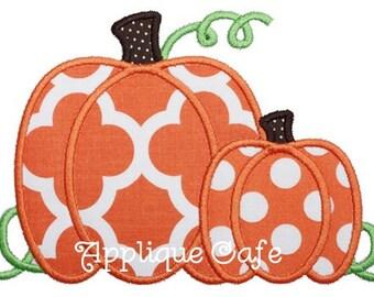 799 Pumpkins Machine Embroidery Applique Design