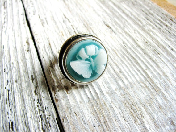 ring teal blue nature inspired jewelry gardener naturalist gift ideas