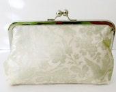 BRIDAL CLUTCH PURSE - Champagne  fabric