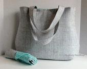 The Laguna Diaper Bag Set - Heath in Grey with Herringbone in Aqua Or Custom Design Your Own