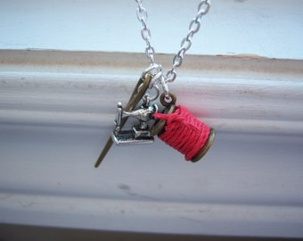 Seamstress Necklace - Sewing Necklace -  Free Gift With Purchase