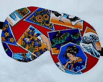 Oriental POSTAGE STAMPS 5 Layer Luxury Cotton Eye Mask