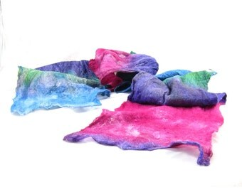 Cobweb Felted Scarf Wool Scarf Gift for Her Winter Scarf Lightweight Scarf Spring Scarf Womens Scarf Fuchsia Pink Purple Blue Teal Green