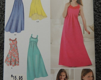 Simplicity 1510 Girls Plus Special Occasion Dress in Three Lengths and Bolero
