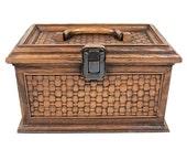 Vintage Faux Wood Sewing Box