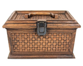 Vintage Faux Wood Sewing Box
