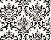 Black and White Valance Damask Curtains Drapery Window Treatments Black Floral Modern Home Decor Valance