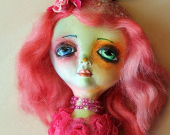 SALE Art Doll Offa Ornament Wall hanging Collectible art doll