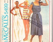 Vintage 1977 McCall's 5499 UNCUT Sewing Pattern Misses' Jumpsuit and Hat Size 10-12(Small) Bust 32-1/2 - 34