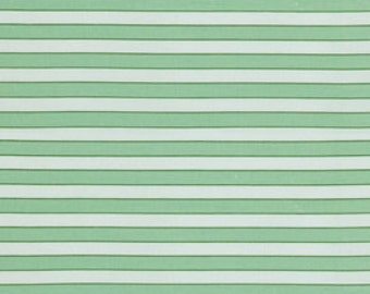 Cabana Stripe Rosewater Verna Mosquera  Cotton Fabric pwvm112Daquiri  Green Stripe with White