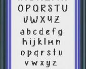 Cross Stitch Alphabet Pattern Rosie Style Font