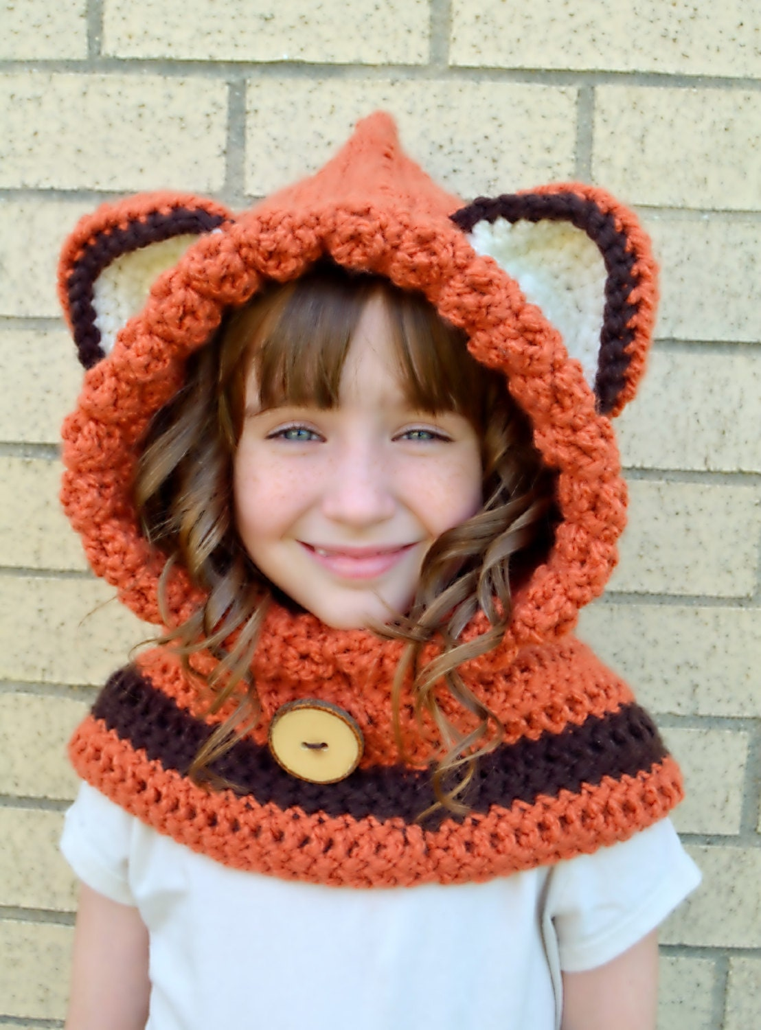 Free Crochet Fox Cowl Hat Pattern : Fox Hat Fox Hoodie Fox Cowl Animal Hat by MegansMenagerie