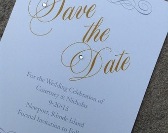 Elegant Romantic Script Save the Date sample