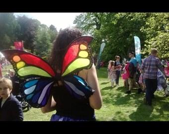 Monarch Butterfly Rainbow Fairy Wings. Adult