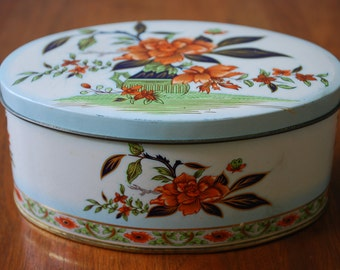 Vintage Daher Oval Tin - Chinoiserie - 1970's