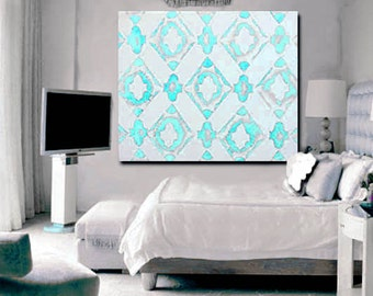 Large Modern Art Canvas, Geometric Pattern Acrylic on canvas Any Size