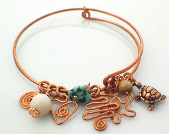 Copper Bangle Kit - Wire Wrapping, Texturing, Forging and Forming