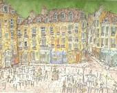 Parisian Square Original Painting