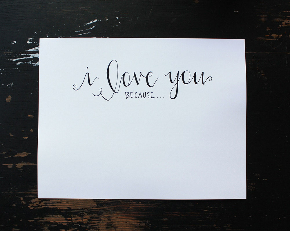Exceptional image within i love you because printable