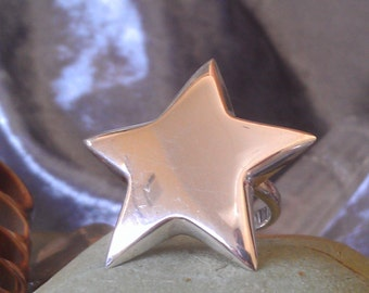 Vintage sterling silver Rock Star Ring Size 6.5 Pinky Ring