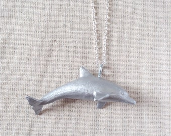 Toy Dolphin Critter Necklace - Silver